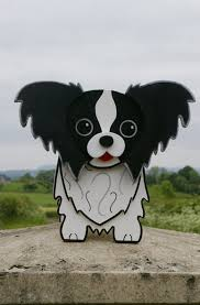 papillon planter garden ornaments decorations pet pets dogs