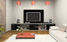 living room tv wall design ikea side table round black white rug