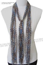 trellis ladder yarn necklace instructions free pattern ribbon yarn scarves not crochet crafts crochet