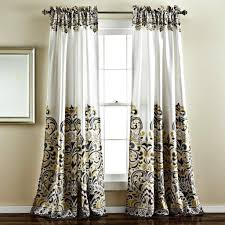 Boho Window Curtains Sirina Boho Moroccan Paisley Gray Floral Window Curtain Panel Set
