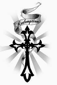 tattoo cross tribal design redemption banner and tribal cross tattoo design tats art art