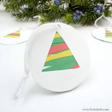 easy paper tree ornament craft for