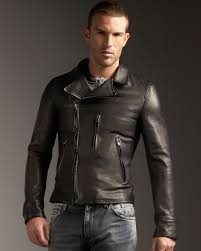 mens leather moto jacket dolce u0026 gabbana leather motorcycle jacket in black for men lyst