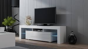 White Modern Living Room Tv Stand Milano 160 White Modern Led Tv Cabinet Tv Console Fit