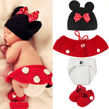 mickey designs baby crochet photography props infant costume photo