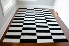 Black And White Floor Rug Make It Diy Ikea Stockholm Inspired Rug Using Carpet Tiles Curbly
