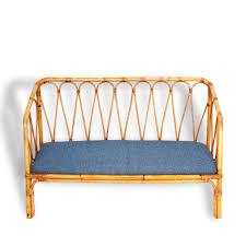 canapé enfants canapé enfant vintage rotin 50 s bois matériau bleu bon