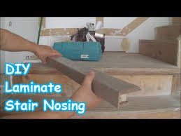 How To Lay Hardwood Laminate Flooring - laminate stairs how to make stair nosing yourself youtube