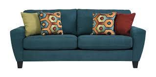 signature design by ashley sagen teal queen sleeper sofa