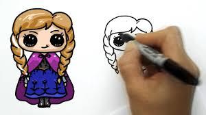 draw anna frozen cute simple