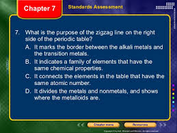 what is the purpose of the periodic table phyical science ch 7
