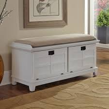 White Bench With Storage Bench Design Shop Home Styles Arts And Crafts Transitional White