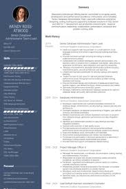 Sql Dba Sample Resume by Database Administrator Resume Samples Visualcv Resume Samples