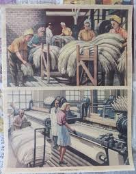 vintage home decor art print wall poster manufacturing linen value