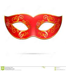 orange mardi gras vector venetian carnival mardi gras party mask stock vector