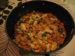 recette cuisine couscous tunisien est dans assiette couscous tunisien à la lotte de ricardo