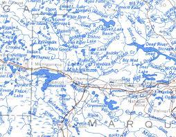 map of michigan lakes professor higbee s lake maps