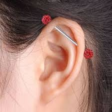 bar earring cartilage industrial piercing piercings industrial piercings