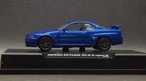 blue nissan skyline my 1 64 world minicar collection tamiya 1 64 collection nissan