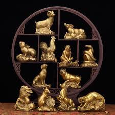 usd 21 92 copper 12 zodiac ornaments set of mouse bull