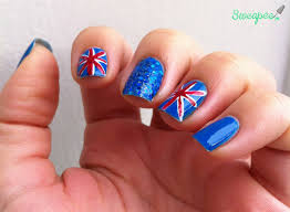 special post only in english u2013 uk flag nail art