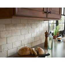 pictures of stone backsplashes for kitchens shop anatolia tile 8 pack chiaro tumbled marble natural stone wall
