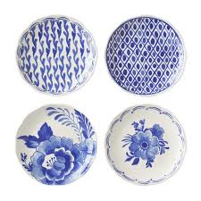 horderve plates aerin sea blue appetizer plates set of 4 williams sonoma