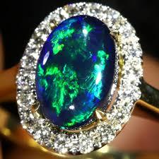 black opal engagement rings size black opal engagement ring 14 k ring soj3 sh