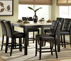 tall dining room chairs astounding black table and set of counter