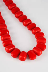 chunky bead necklace images Red chunky bead necklace jpg