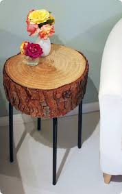 wood slice end table wood slice accent table