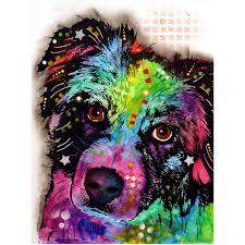 australian shepherd fabric aussie australian shepherd dean russo dog wall decal 24 in