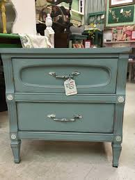 Blue Table Menu Duck Egg Blue U0026 Old White Chalk Paint End Table 68 Sold The