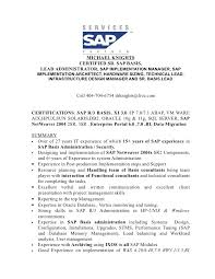 Sap Mdm Resume Samples by Resume Sap Basis Consultant And Resume Samples With Free Download