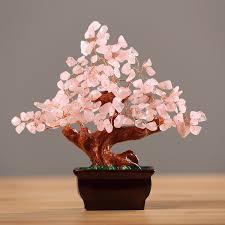 Crystal Decor For Home Amazon Com Feng Shui Natural Rose Quartz Crystal Money Tree