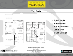 Covington Floor Plan by The Cedar Victorian Meadows
