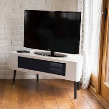 Corner Tv Cabinets For Flat Screens With Doors by Norvik Tv Stand In White High Gloss With Glass Door 29701