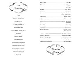 Wedding Bulletin Template Program Template 14