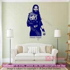 roman reigns quotes wall stickers wwe wrestling figure wall decal roman reigns wrestling figure wall sticker wwe champion decals sports gym decor