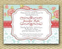 shabby chic bridal tea invitation bridal shower invite vintage