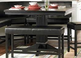 black dining table with bench black bench for kitchen table gallery with dining perfect tall
