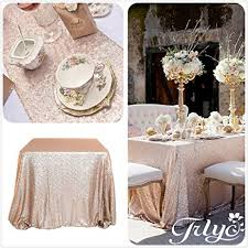 amazon com champagne sequin table runner 12