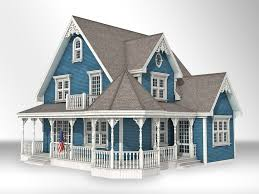 victorian house victorian style house 3d model