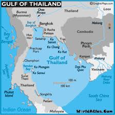 bodies of water list map of gulf of thailand gulf of thailand location facts major