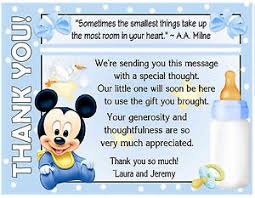 baby mickey mouse baby shower 20 baby mickey mouse baby shower thank you cards with envelopes ebay