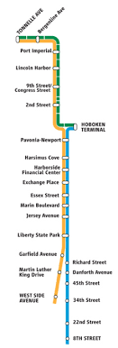 hudson light rail schedule new jersey transit