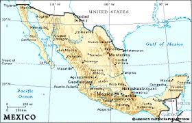 me a map of mexico maps