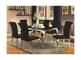 Coaster Dining Room Sets Coaster Carone Contemporary Glam Dining Room Set With Upholstered