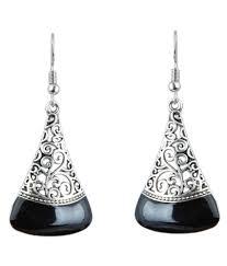 girl earring waama jewels hanging earring silver plated college wear oxidised