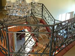 Wrought Iron Railings Interior Stairs Delectable Interior Wrought Iron Railings Featuring Black Stained